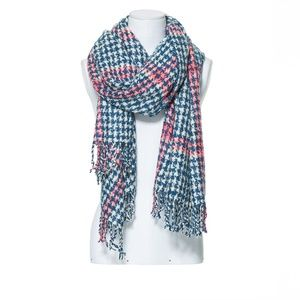 ZARA Large Soft Houndstooth Scarf Shawl Wrap